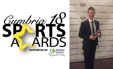 Carlisle Brass wins the cumbria sports awards active workplace category